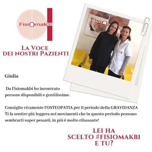 Fisioterapia dicono di noi | www.fisiomakbi.it